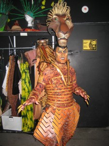 "Mike Hollick as ""Scar"" in The Lion King"